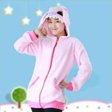 Pink Stitch Coral Long Sleeve Animal Adult Hoody Sweatshirts Sweater Cosplay Costume For Party Wear Halloween Christmas Gift