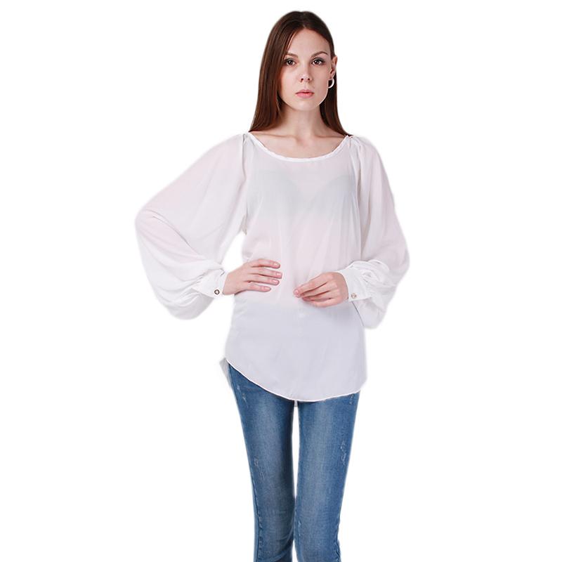 mulheres camisas chiffon blusa cor slida do vintage elegante moderno primavera outono nova moda olhar longo