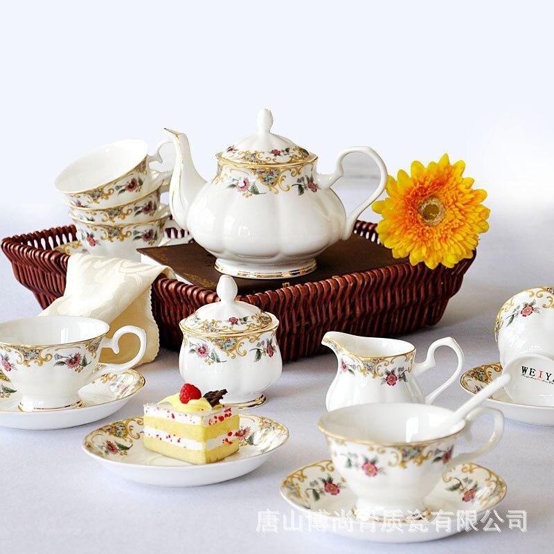 Tangshan haute qualité os chine café costume européen os chine café thé ensemble