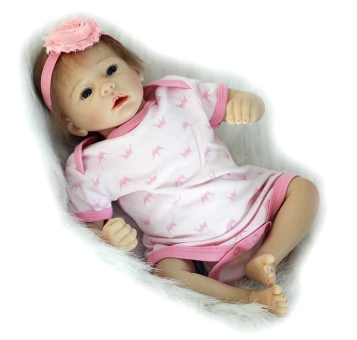 49cm Doll Reborn Baby Vinyl Lifelike Realistic Bebe Reborn Babies Dolls Kids Play Toys Christmas Gifts Juguetes Brinquedos