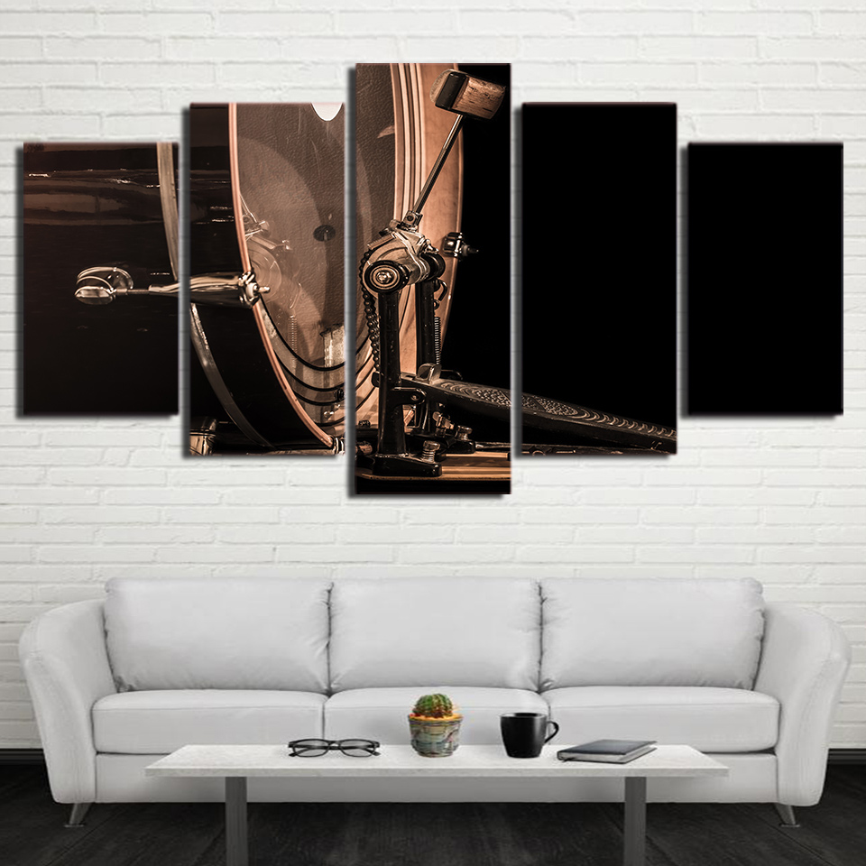 Vintage Music Instrument posters 5 Piece Canvas Wall Art Print ...