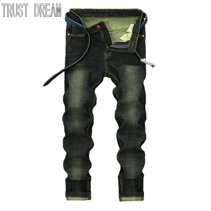 TRUST DREAM Fashion Men Slim StoneWashed Jean Man Casual Street Pant Personal Man Leisure Jeans l jean camp trust