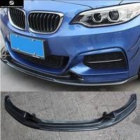 F22 M235 Carbon Fiber Car front bumper lip for BMW F22 M235 EXOT style car body kit 14 18