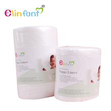 Elinfant 1 roll disposable bamboo flushable baby diaper nappy liner Biodegradable bamboo liner free shipping#SMT007#(China)