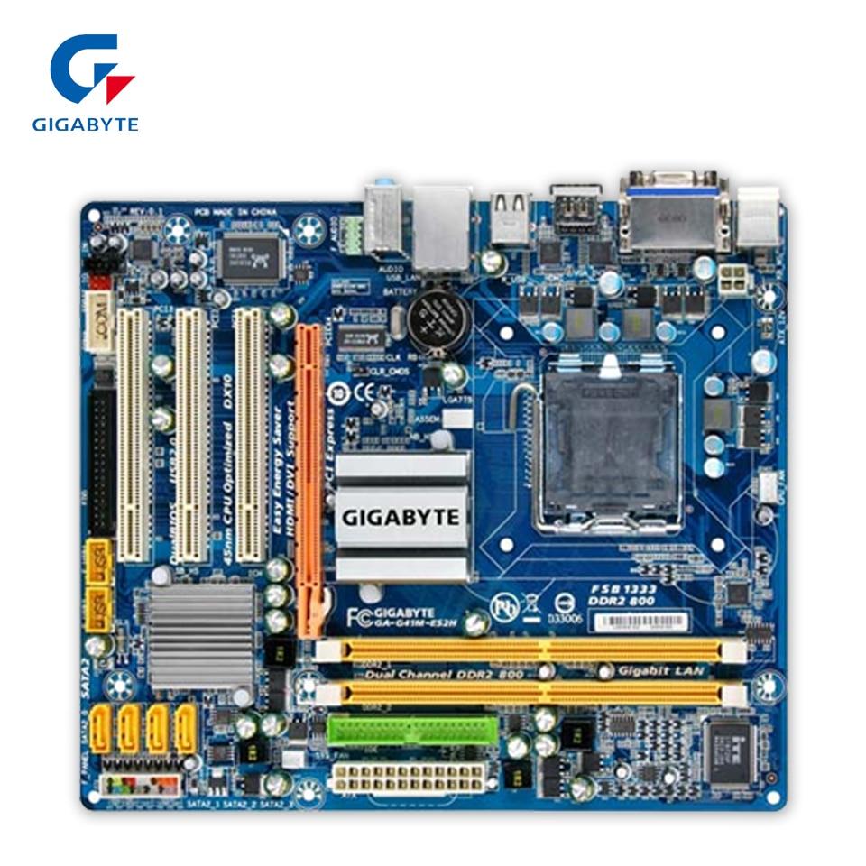 Original Gigabyte GA-G41M-ES2H Desktop Motherboard G41M-ES2H G41 LGA 775 DDR3 8G SATA2 USB2.0 Micro-ATX 100% Fully Test original gigabyte ga 945gcm s2c desktop motherboard 945gcm s2c 945gc lga 775 ddr2 4g sata2 micro atx 100% fully test