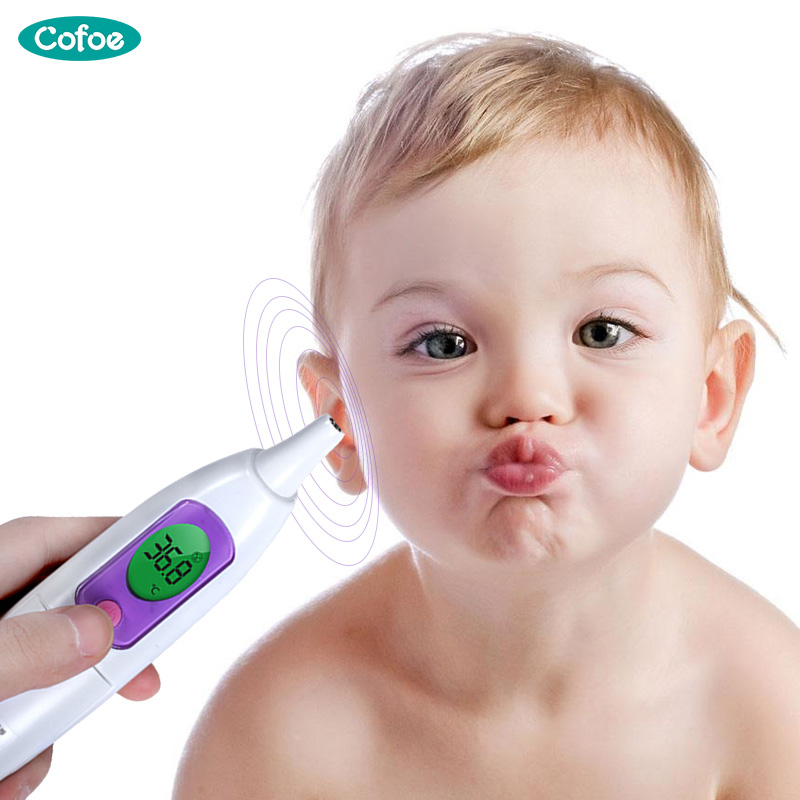 Cofoe Fever Medical Electronic Ear Thermometer Household Precision Digital Body Temperature Meter Pyrometer for Baby Adults