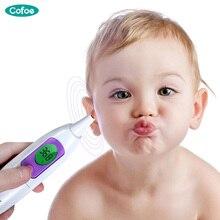 Cofoe для температуры медицинский электронный термометр уха бытовой точность цифровой уха измеритель температуры тела пирометр для взрослых