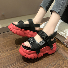 HKCP Sandals women 2019 summer womens shoes new platform with thick bottom version of Korean sandals inside height C146