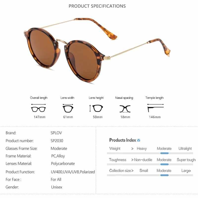 SPLOV 2018 nouveauté lunettes De soleil rondes rétro hommes femmes marque lunettes De soleil design Vintage revêtement miroir Oculos De Sol UV400
