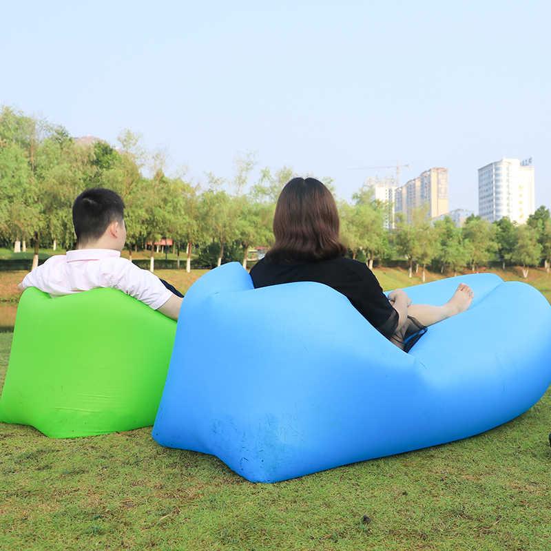 2019 Novo Estilo de Cama Preguiçoso Sofá Do Saco de feijão Espreguiçadeira Inflável Cadeira Do Sofá Do Ar Foi Dormir Colocar Saco de Areia Da Praia Sofá Preguiçoso sofá