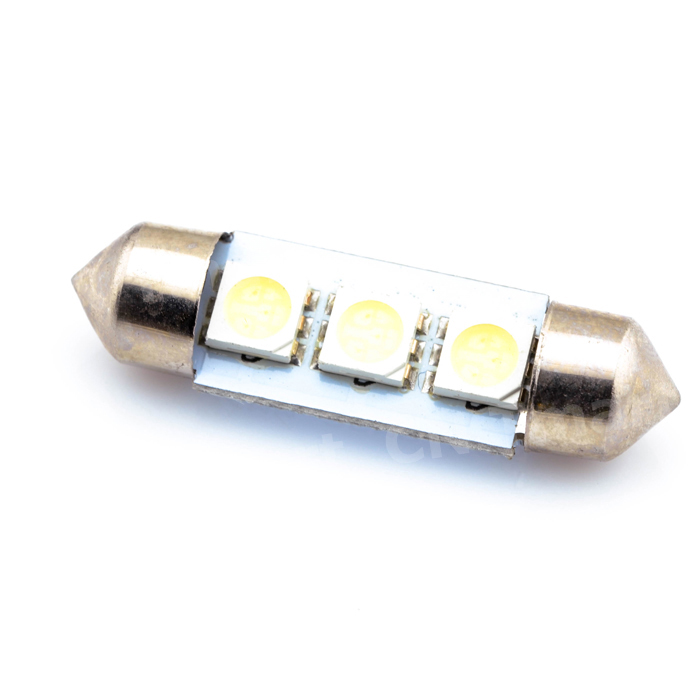 36mm 12V C5W 3 SMD 5050 LED Bulb Cold White Festoon Interior Dome Auto LED Car Lamp Parking Light 36/39/41mm 1pcs festoon 36mm 1 8w 180lm 9 x smd 5050 led white light car reading roof dome lamp 12v pair