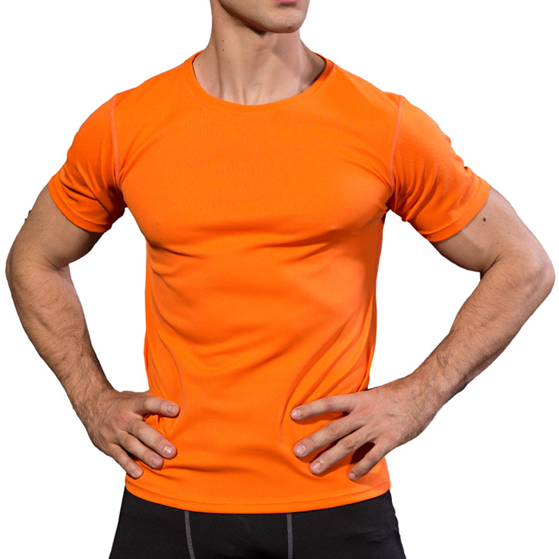Mens Sports t-shirts fitness bodybuilding t-shirt trainning&exercise Tshirts sports jersey mens workout clothes Gym Tank tops