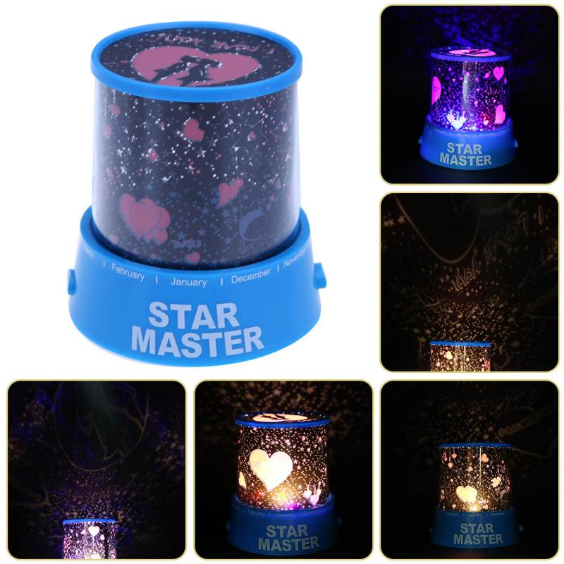 LED Night Light Projector Rotation Starry Sky Star moon Master Children Kids Baby Sleep Romantic colorful Led Projection lamp купить в Москве 2019