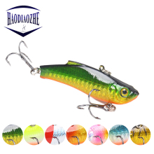 Купить с кэшбэком 1pc Winter Ice VIB Fishing Lure 7cm 17.5g Quality Metal Hard Bait 3D Natural Eyes Topwater Crank Wobblers Bass Pike Japan Pesca