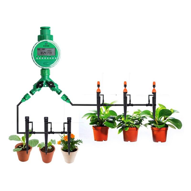 8/11 À 4/7mm Tuyau Irrigation Goutte À Goutte Système 40 pcs Réglable Buse Arrosage Du Sol Automatique Système D'irrigation Arrosage kits