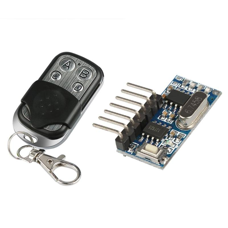 433 Mhz Key Wireless Remote Control Kits Superheterodyne Learning Code Decoding Receiver Transmitter Module For Light Switch Diy ...