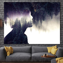 Abstract Painting Posters and Prints Creative figure Forest canvas Art Frameless Printing Landscape Picture