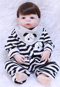 Boy silicone reborn baby dolls NPK 22inch bebe doll bonecas child xmas gift girl  dolls real born for baby toys