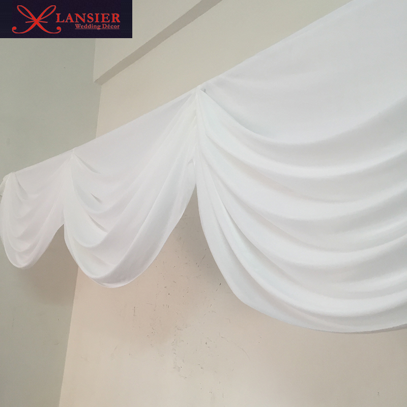 6 meter length white wedding swags for backdrop decoration detachable wedding swag drape table skirt event party decoration-in Party Backdrops from Home & Garden    1