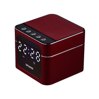 Aluminum Alloy LED Alarm Clock with Wireless Bluetooth Speaker Support TF Card AUX Input Music Player for Smart Phone