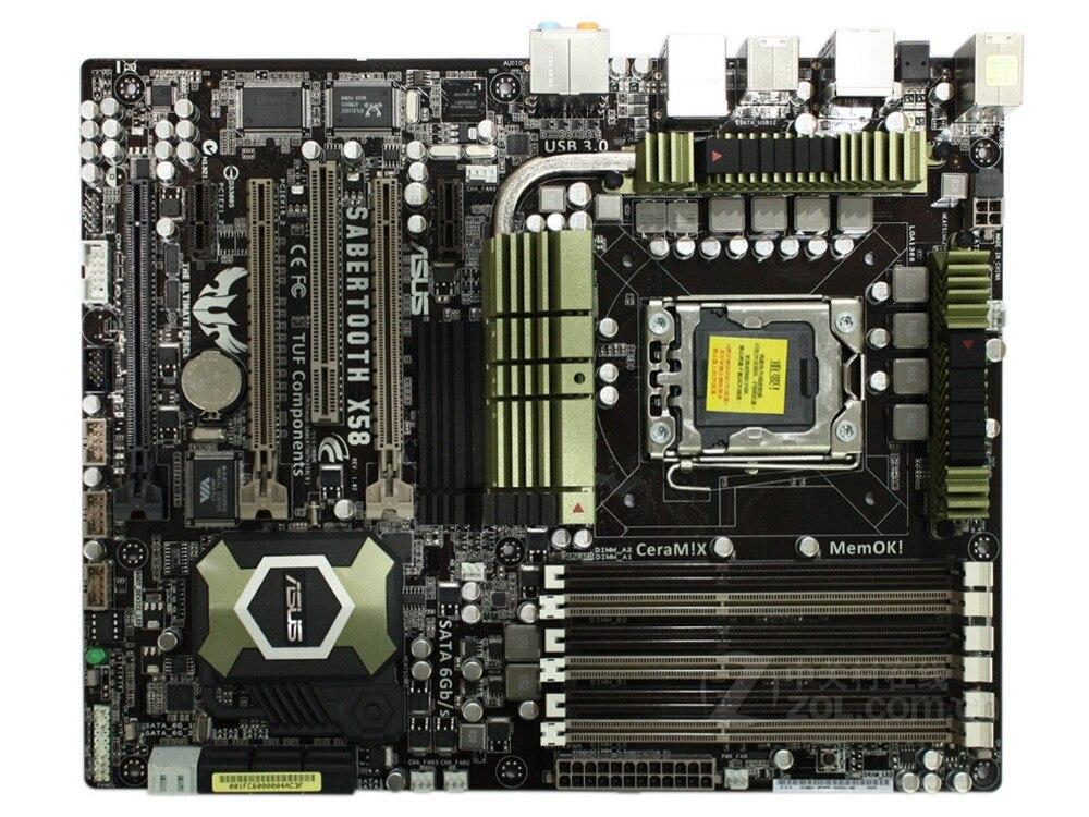 ASUS SaberTooth X58 d'origine carte mère LGA 1366 DDR3 pour Core i7 Extreme/Core i7 24 GB X58 Bureau carte mère livraison gratuite