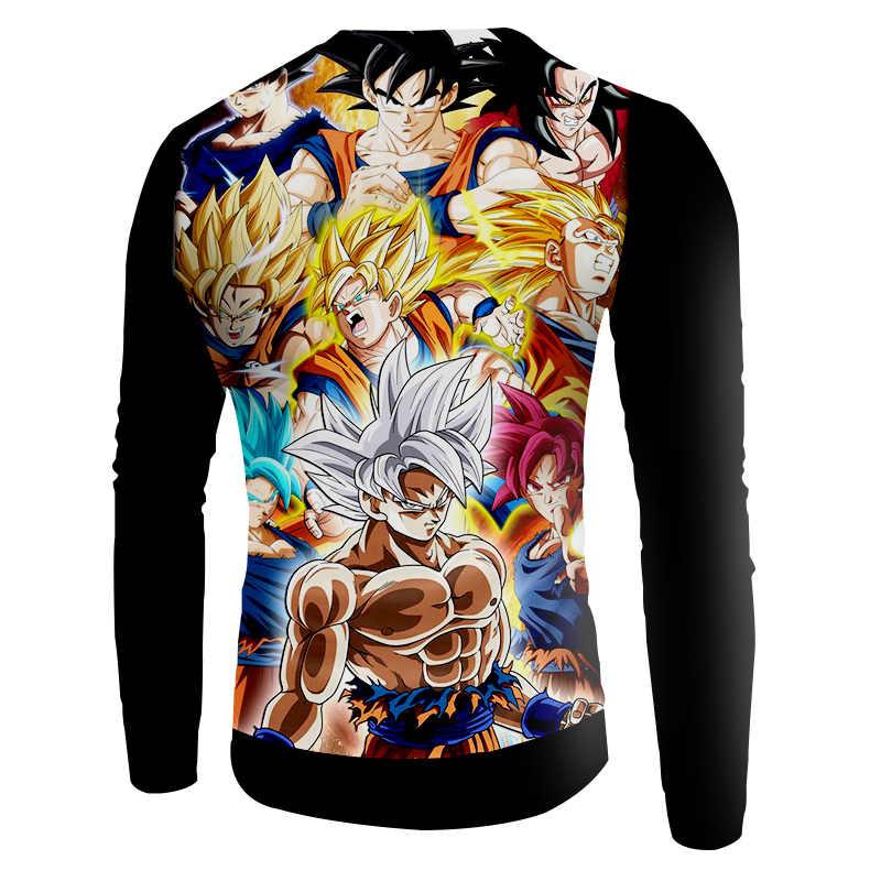 OGKB Новое поступление Для женщин свитеры с v-образным вырезом забавным принтом Сон Гоку 3d толстовки Для женщин Спортивная одежда для хип-хопа Пуловеры блузки