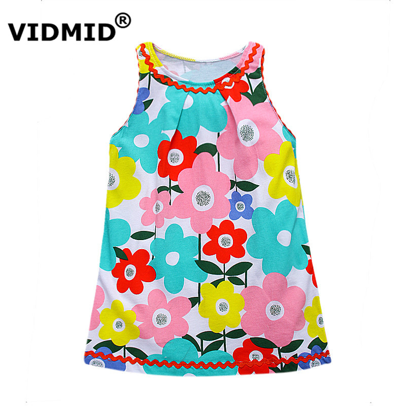 Подробнее о VIDMID Little Girls Summer Dresses children Enfant Princess Dress Costumes for Kids Clothing flowers Print Cotton Girls Clothes girl dress summer 2016 brand children costumes for girls kids clothes floral print little girls dresses princess costume 2colors