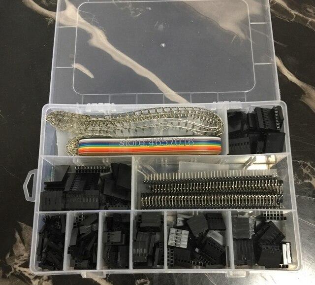 635 pièces/ensemble Kit de câbles IDC pas JST SM 1 2 3 4 5 6 broches connecteur de boîtier Dupont mâle femelle broches à sertir adaptateur assortiment ensemble