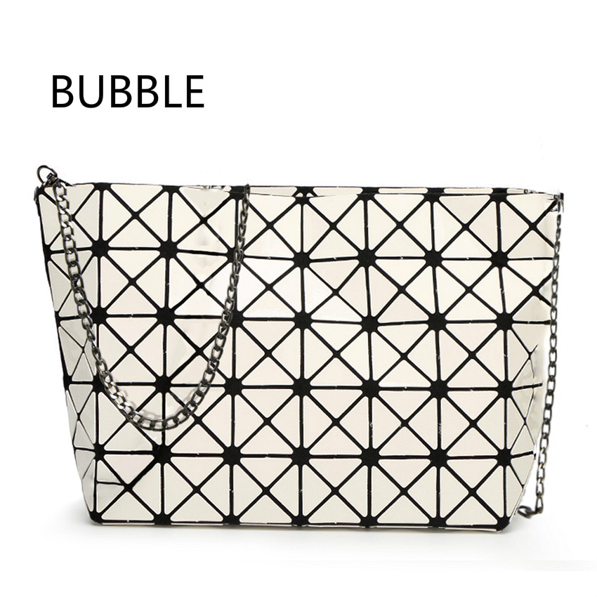 2016  Fold over handbags & Crossbody bag Bao bao women pearl bag laser sac bags Diamond Lattice geometry Quilted shoulder bag
