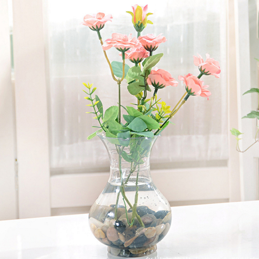 Modern Minimalist Transparent Plastic Vase Hydroponic Special Vase Home Office Use