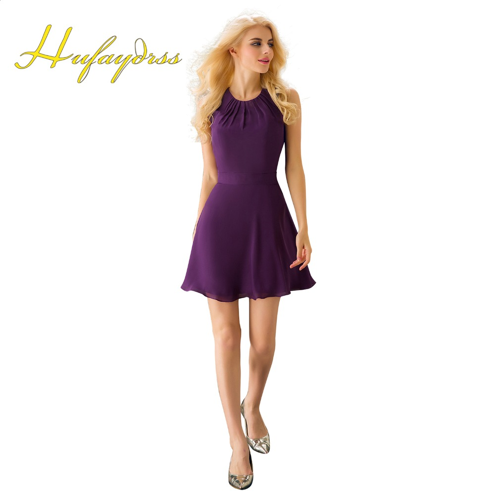 Online get cheap purple short dresses under 50 aliexpress cheap bridesmaid dresses short 2017 purple mini hollow back prom party gowns under 50 real image ombrellifo Gallery