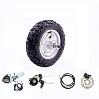 10 дюймов 48 в 800 Вт комплект для скутеров 36 В 24 в 350 Вт 500 Вт Электрический велосипед E аксессуары 10 электрический багги Conversion kit