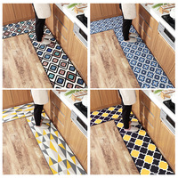 New home long nylon kitchen mat customize Wear resistant rub Water absorbing mat non slip Plaid pattern carpet Moroccan art rug