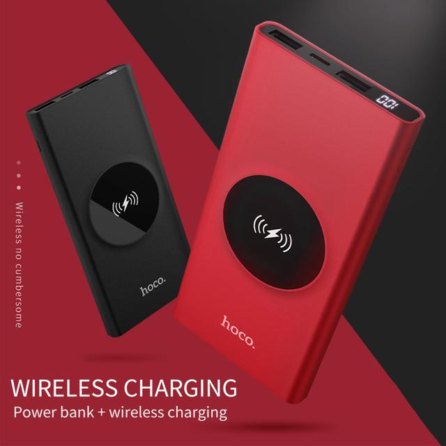 10000mAh QI Wireless Charger Power Bank Dual USB