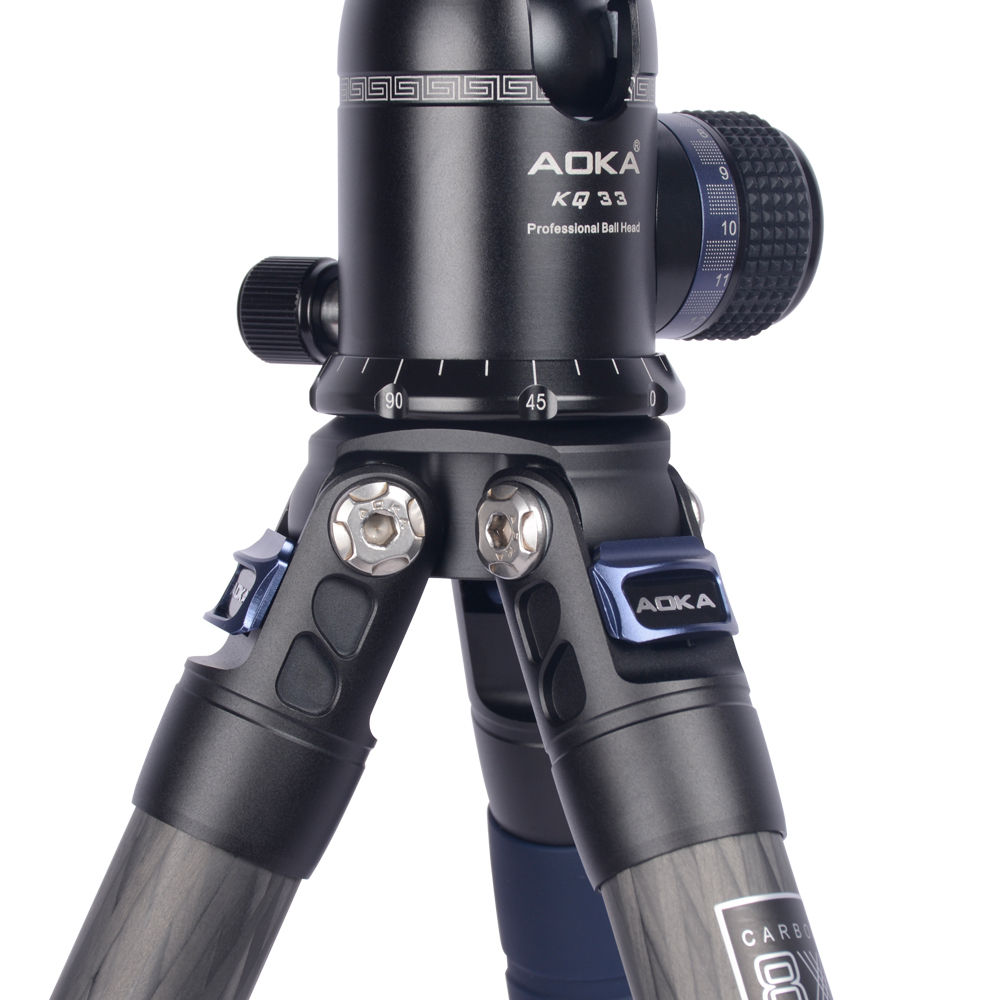 Image 3 - AOKA CMP254C Max loading 13kgs Professional travel lighweight carbon fiber compact camera tripod with no central columnTripods   -