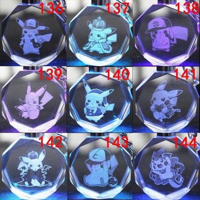 Аниме брелок светодиодный кристалл Покемоны в ассортименте 1