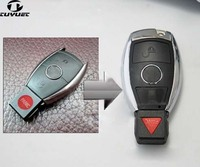 2 1 Buttons Updating Modified Smart Remote Key Shell For Mercedes Benz Car Key Blanks Case