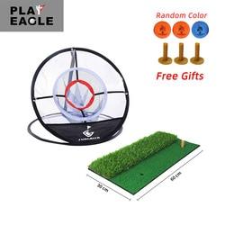 FUNGREEN الغولف التقطيع حصيرة وصافي 60x30 سنتيمتر داخلي في الهواء الطلق التدريب المطاط المحملة حامل حصيرة الغولف ضرب حصيرة مع كرة جولف المحملة