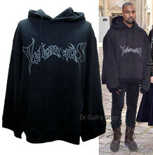 New Vetements Oversized Kanye Hoodie Black Regular Cuffs Rihanna Streetwear