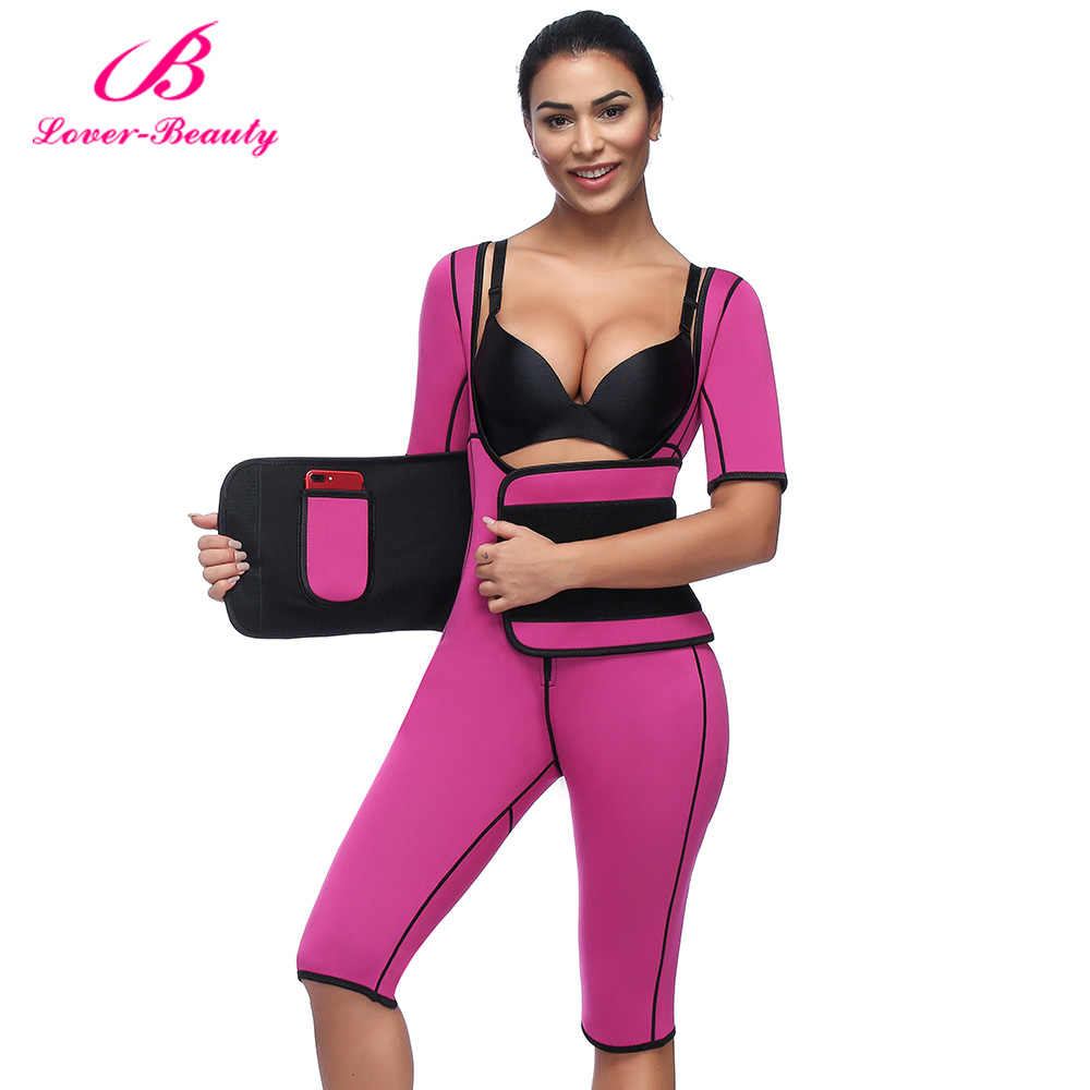 36e7a486aea Lover Beauty Hot Shapers Bodysuit Sauna Suit Waist Trainer Corsets Neoprene  Body Shaper Women Slimming Full