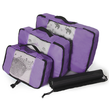 Nylon Organizer Packing bag Cube Ladies Travel Bags 3 Pieces Casual High Quality Women Luggage Bag Zipper Waterproof