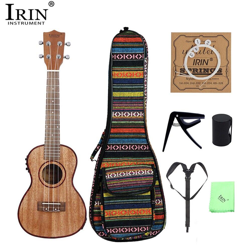 IRIN 24 pouces ukulélé Sapele bois Soprano 4 cordes Nylon Ukelele Kit avec LCD EQ pick-up Capo sac de transport Instrument de musique