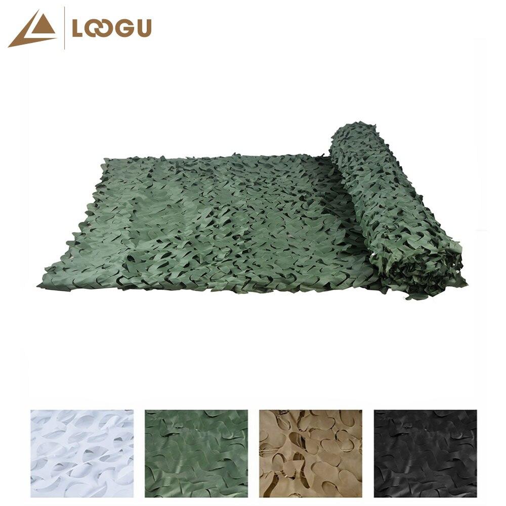 LOOGU E 1.5 m * 20 m Camouflage Net Photographie Fond Décoration Chasse Stores Camouflage Filet Noir Camo Filet dans Abri du soleil de Sports et loisirs