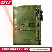 กระเป๋าสตางค์หนังแท้ผู้หญิงกระเป๋าสตางค์ผู้ชายใหม่แฟชั่นกระเป๋าเหรียญซิป & Hasp ออกแบบแบรนด์กระเป๋าใส่นามบัตรสีเขียวสีแดง