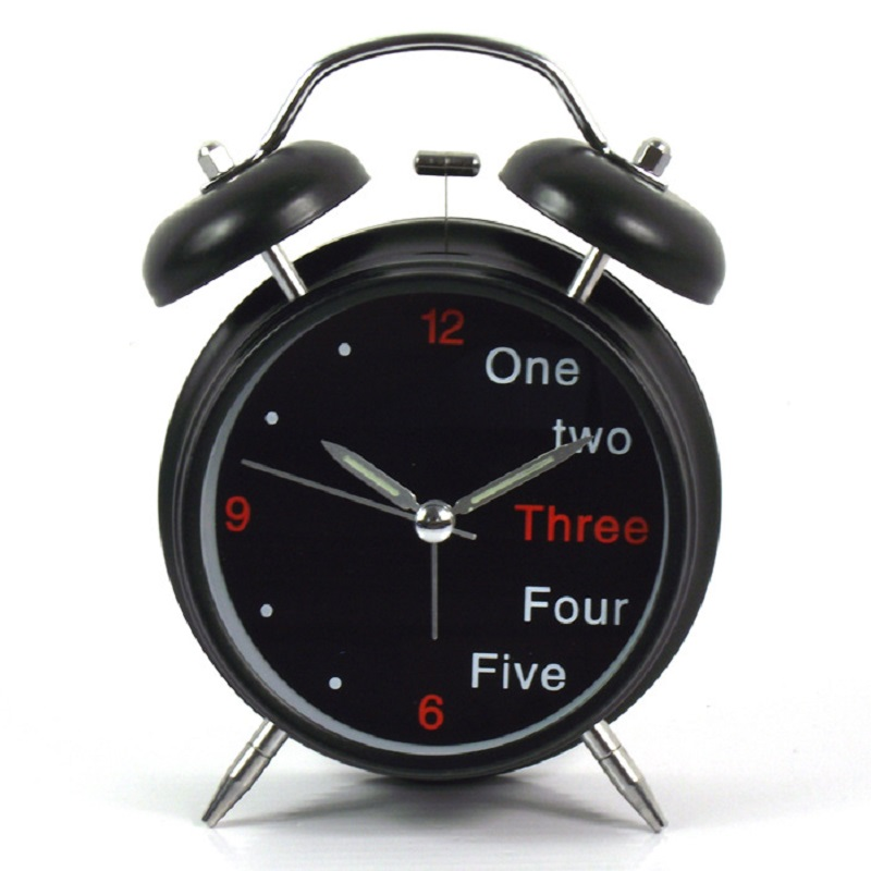 Meijswxj Small Alarm Clock Saat Electronic Desk Clock Reloj Mini Mute Metal alarm clocks Relogio Clocky Bedroom bedside decor