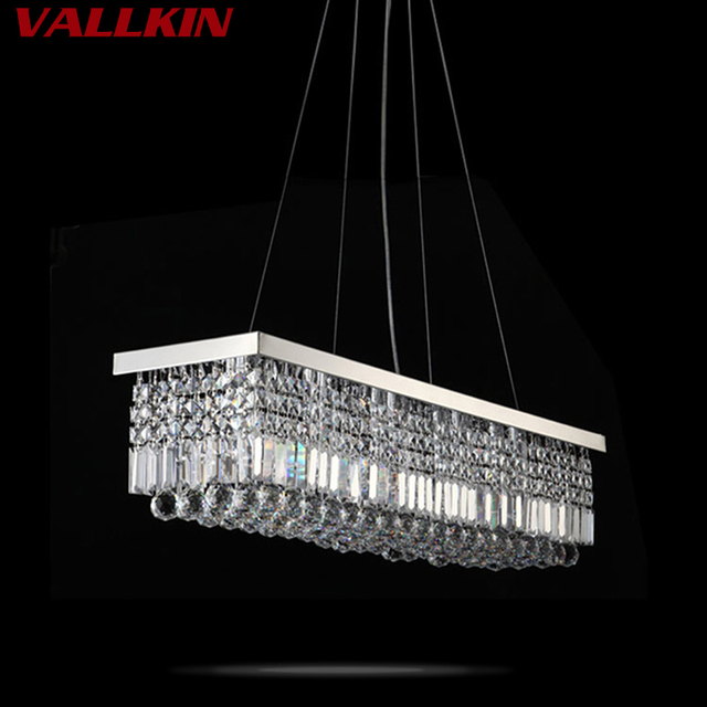 VALLKIN ED Pendant Light Contemporary Hanging Lamps Fixtures with K9 ...