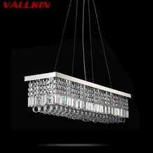 VALLKIN ED Pendant Light Contemporary Hanging Lamps Fixtures with K9 Crystal For Dining Room Hotel Indoor Home LED