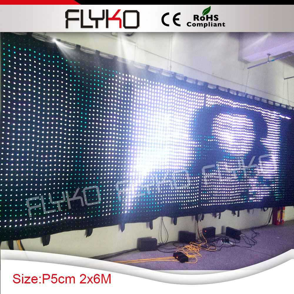 Television programme display screen led video curtain