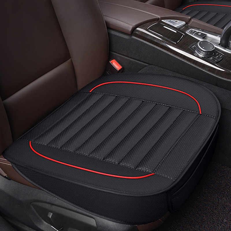 Capa de assento de automóvel acessórios do carro interior couro do plutônio quatro estações universal protetor de armazenamento assento almofada