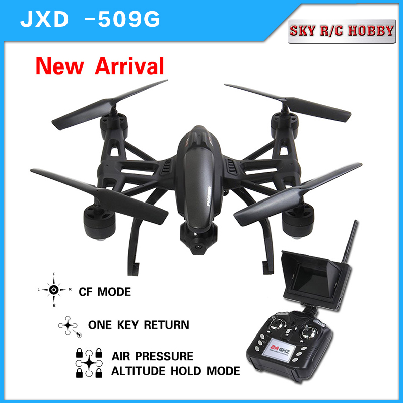NEW JXD 509G JXD 509W Quadcopter Drone 5.8G FPV With 2.0MP HD Camera, Automatic Air Pressure High, Headless Mode, One Key Return jxd 510g 4ch 6 axis gyro 5 8g fpv rc quadcopter drone with 2 0mp camera 2 4ghz with one key return cf mode 3d flip drone rtf